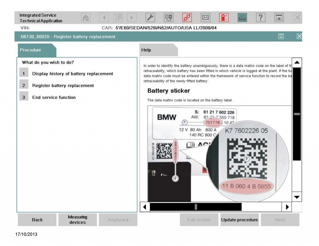 battery registration