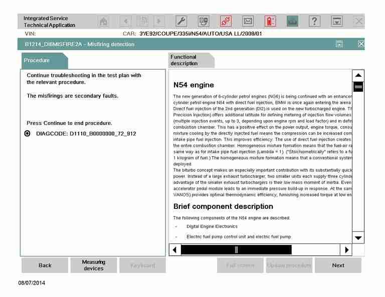 ISTA/D Misfire detection - 2008 E92 335i