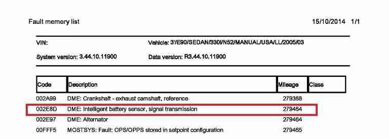 ISTA/D IBS fault 2E8D