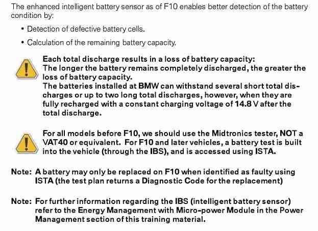 BMW Intelligent Battery Sensor