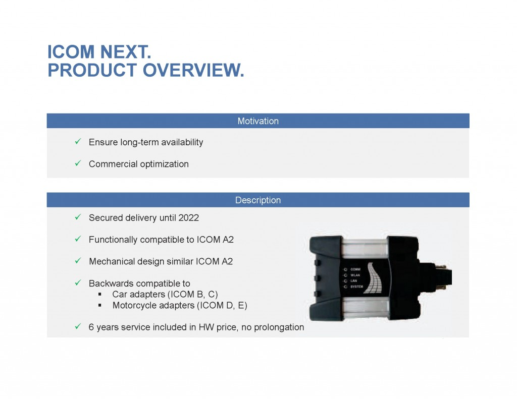 ICOM Next Product Overview